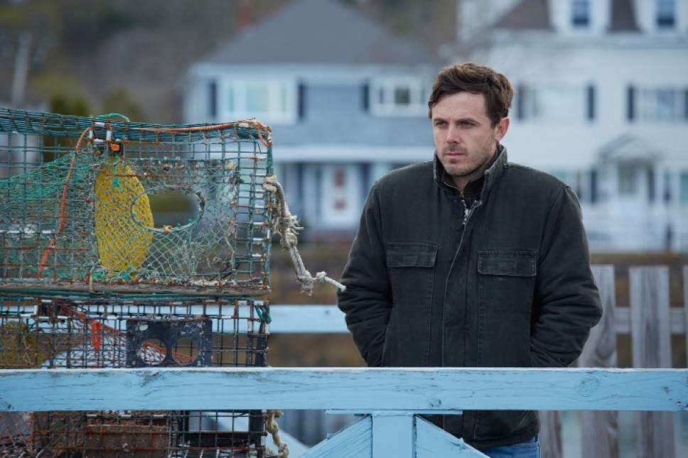 """This image released by Roadside Attractions and Amazon Studios shows Casey Affleck in a scene from """"Manchester By The Sea."""" (Claire Folger/Roadside Attractions and Amazon Studios via AP)"""