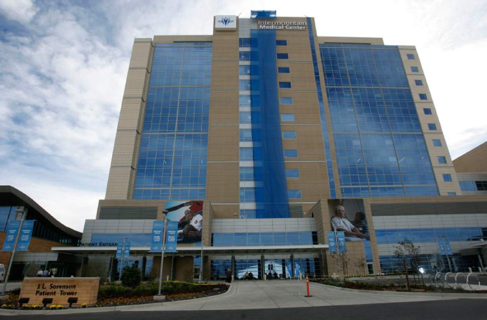 Rick Egan  |  Tribune file photo The Sorenson Patient Tower is part of Intermountain Medical Center in Murray.