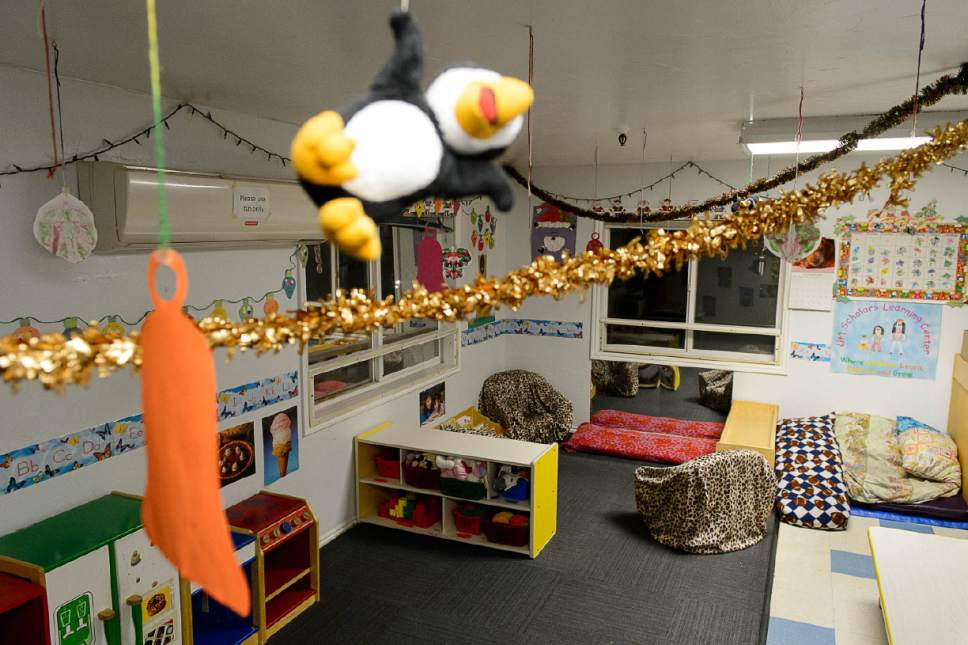 Trent Nelson  |  The Salt Lake Tribune A classroom for toddlers at Lit'l Scholars Learning Center in Salt Lake CityThursday December 15, 2016. The Center, at 653 E. Simpson Avenue, is set to become a homeless shelter.