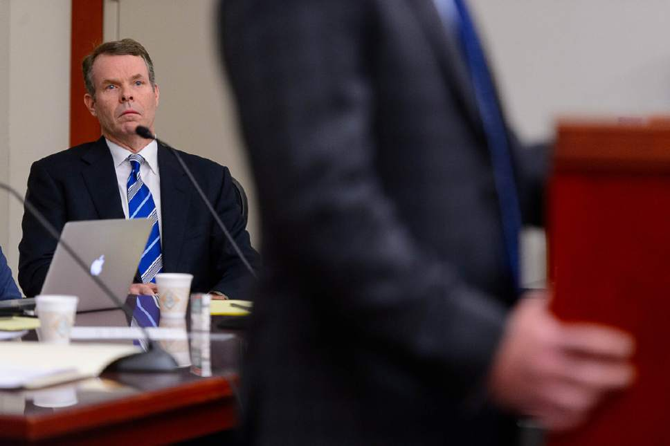 Trent Nelson  |  The Salt Lake Tribune Former Utah Attorney General John Swallow, charged with bribery and public corruption, at a motion hearing in Salt Lake City, Friday December 9, 2016.