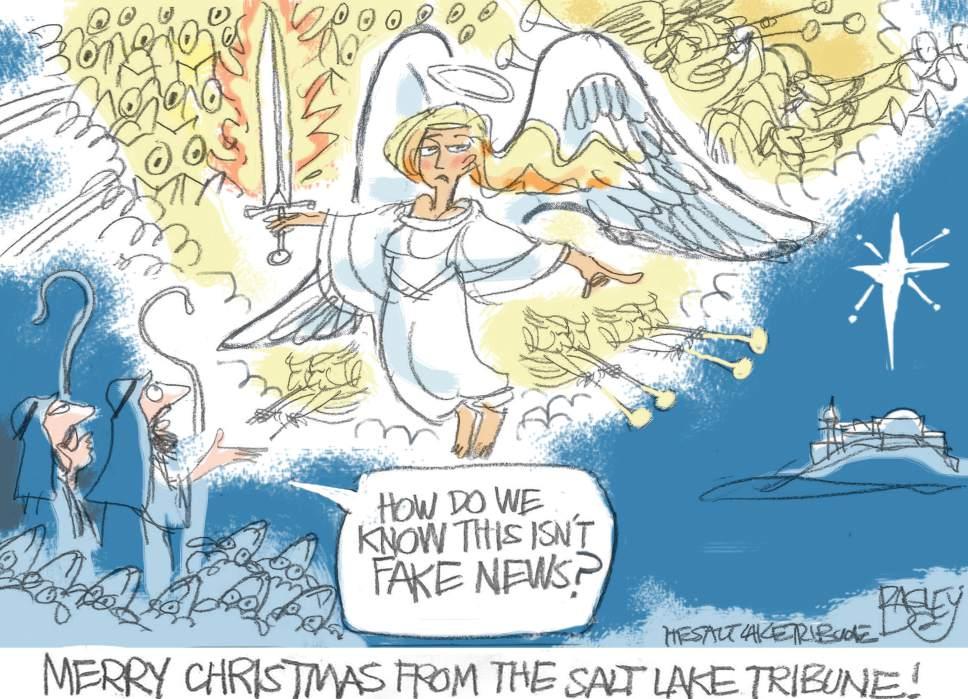 Pat Bagley cartoon for Dec. 25, 2016.