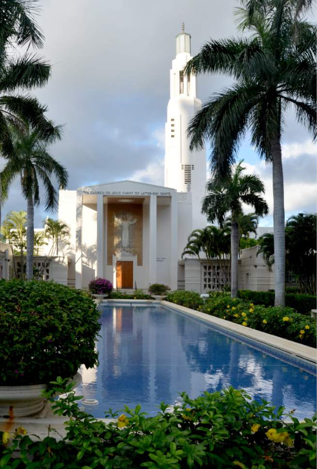 Michael Stack  |  Courtesy  Honolulu LDS Tabernacle completed in 1941, just under four months before the Pearl Harbor attacks.