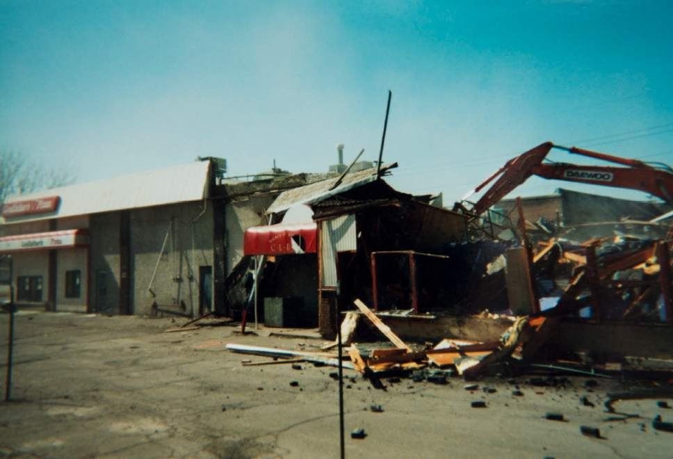 courtesy photo  Demolition of Salt Lake City nightclub Confetti.