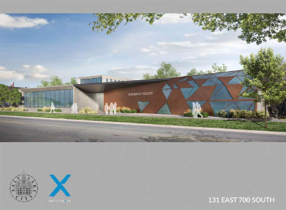 Courtesy  |  Salt Lake City Mayor's Office  An artist's hypothetical rendering of the homeless resource facility proposed for 131 East 700 South in Salt Lake City.
