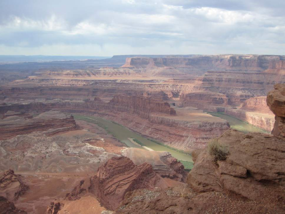 "Tom Wharton  |  The Salt Lake Tribune  Dead Horse Point, which offers one of Utah's most spectacular views,  is one of the scenic Utah locations featured in HBO's ""WestWorld."""