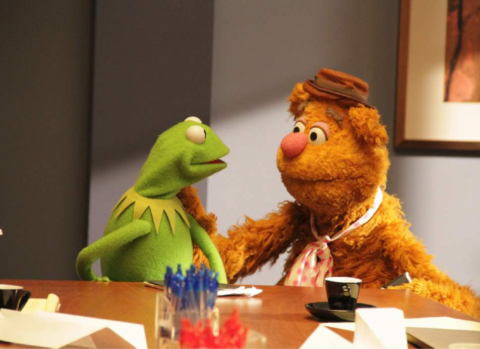 """Kermit the Frog and Fozzie Bear will returned briefly for the ABC series """"The Muppets."""" Andrea McCallin  