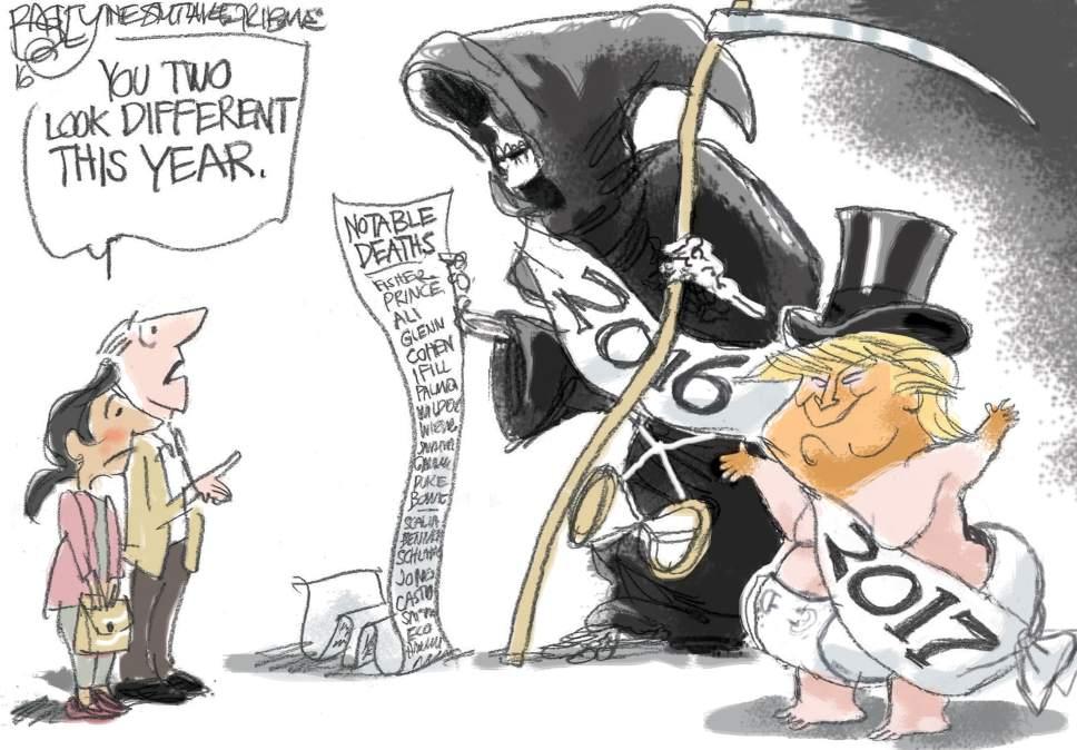 Pat Bagley cartoon for Dec. 28, 2016.