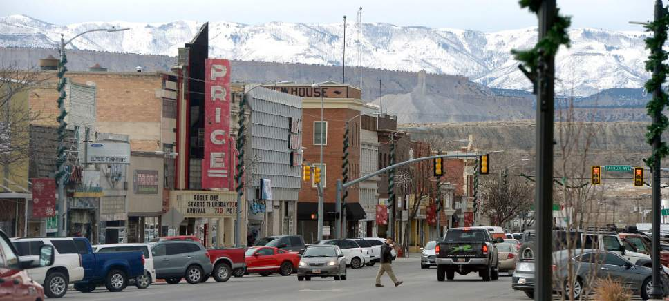 Al Hartmann  |  The Salt Lake Tribune Price Main street businesses have suffered in the past few years with low demand of coal and mine closures.  With the election of Donald Trump people in Carbon and Emery County breathed a sigh of relief and are hopeful that the coal industry can be saved.