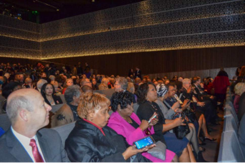 Courtesy of LDS Church People gathered in the auditorium of the National Museum of African American History and Culture on Tuesday, December 6, 2016, for the presentation of the newly indexed database of the historic Freedmenís Bureau Records. The database, given by The Church of Jesus Christ of Latter-day Saintsí FamilySearch International, contains genealogical information of freed African Americans after the Civil War.