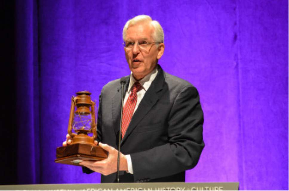 Courtesy of LDS Church Elder D. Todd Christofferson of the Quorum of the Twelve Apostles of The Church of Jesus Christ of Latter-day Saints, pulled a flash drive out of a lantern containing nearly 1.8 million of the 4 million people who were enslaved. The information was given to the Smithsonian Institution.