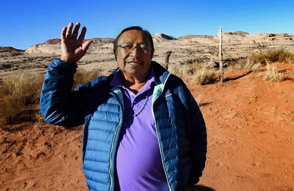 Rick Egan     The Salt Lake Tribune  Jonah Yellowman talks about the new Bears Ear Monument in Bluff, Thursday, December 29, 2016.