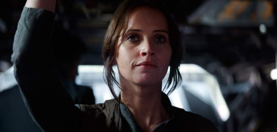"This image released by Lucasfilm Ltd. shows Felicity Jones as Jyn Erso in a scene from, ""Rogue One: A Star Wars Story."" (Lucasfilm Ltd. via AP)"