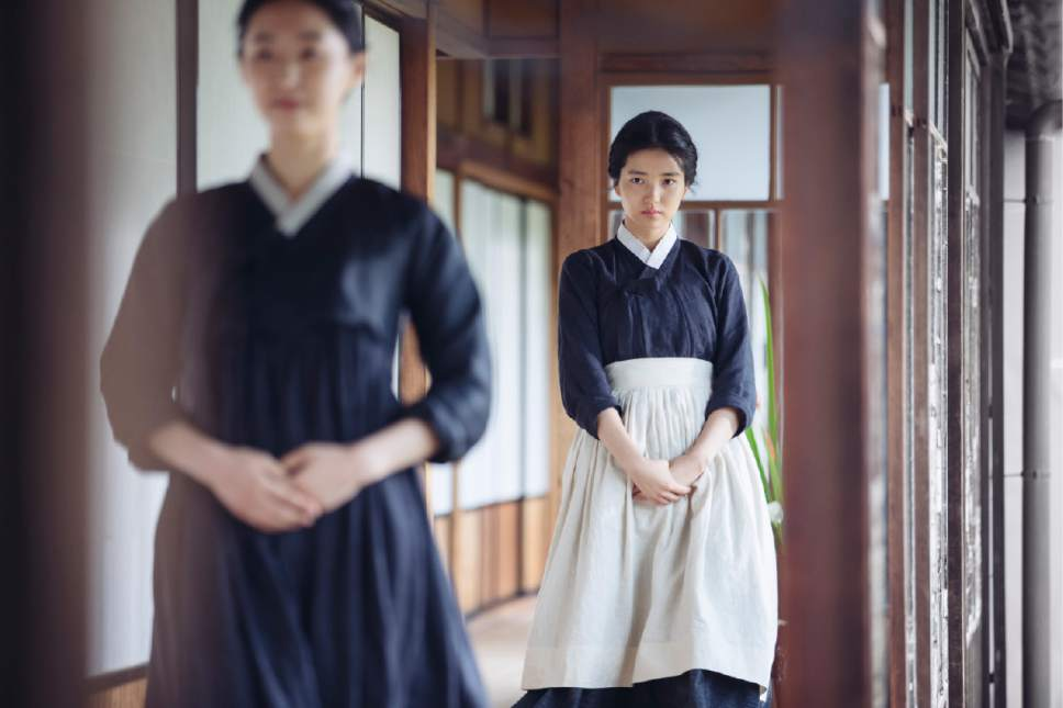 "Sookee (Kim Tae-ri, right) takes a job as a new servant to a Japanese noblewoman, in the Korean thriller ""The Handmaiden."" Courtesy Magnolia Pictures"