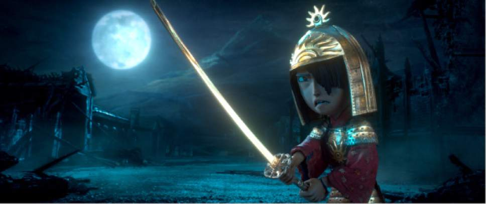 "This image released by Focus Features shows Kubo, voiced by Art Parkinson in a scene from the animated film, ""Kubo and the Two Strings."" (Laika Studios/Focus Features via AP)"