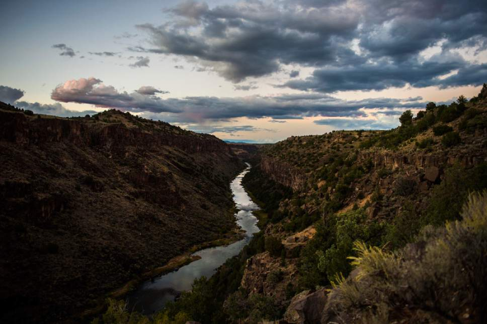 Chris Detrick  |  The Salt Lake Tribune The sun sets over the Rio Grande del Norte National Monument, New Mexico Friday September 30, 2016.