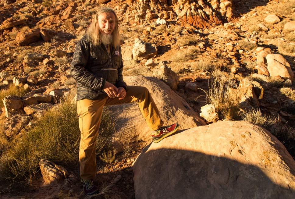 Rick Egan  |  The Salt Lake Tribune  Vaughn Hadenfeldt, board chair of Friends of Cedar Mesa, near, Bluff, Utah, on Friday, December 30, 2016.