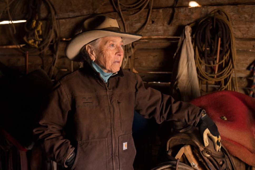 Rick Egan  |  The Salt Lake Tribune  Heidi Redd, owner of the Indian Creek Cattle Company, on her ranch inside the newly designated Bears Ears National Monument on Thursday, December 29, 2016.