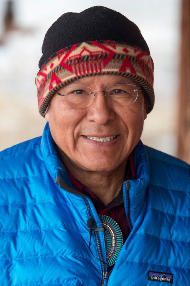 Rick Egan  |  The Salt Lake Tribune  Mark Maryboy, board member of Utah Diné Bikéyah, on Saturday, December 31, 2016.