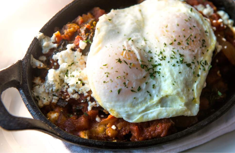 Leah Hogsten  |  The Salt Lake Tribune The Hungry Miner with cast iron potatoes, mixed vegetables and eggs on top, at The Eating Establishment in Park City, which was recently purchased by the owners of Bar X and Beer Bar in Salt Lake City.