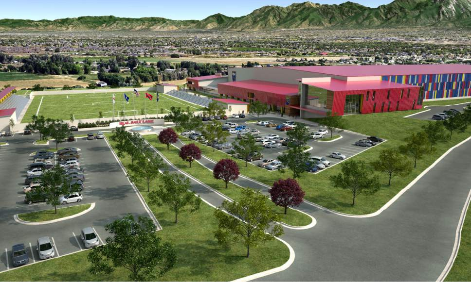    Courtesy  Renderings of RSL's new practice facility in Herriman.