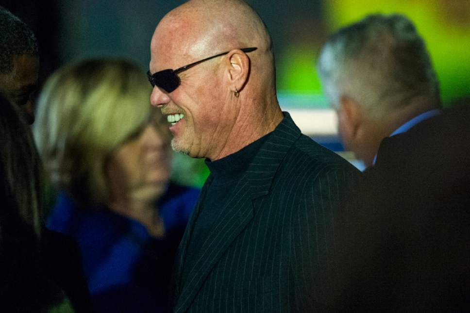 Chris Detrick  |  The Salt Lake Tribune Jim McMahon attends the public service for LaVell Edwards at Utah County Convention Center in Provo Friday January 6, 2017.