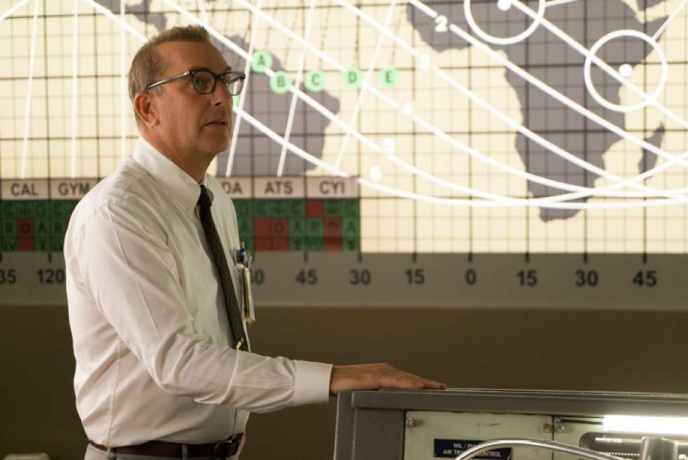 "This image released by Twentieth Century Fox  shows Kevin Costner as NASA official Al Harrison in a scene from ""Hidden Figures."" (Hopper Stone/Twentieth Century Fox via AP)"