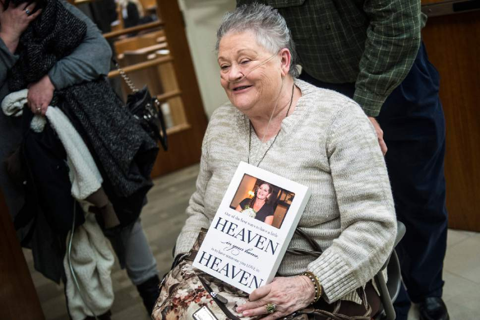 Chris Detrick  |  The Salt Lake Tribune Pattie Best holds a photograph of her daughter-in-law Ashleigh Best after the sentencing of Kenneth Lee Drew at 4th District Court in American Fork Tuesday January 10, 2017. Judge Robert Lunnen sentenced Drew to one to fifteen years in the Utah State Prison for his role in the death of Ashleigh Holloway Best on May 17, 2016.