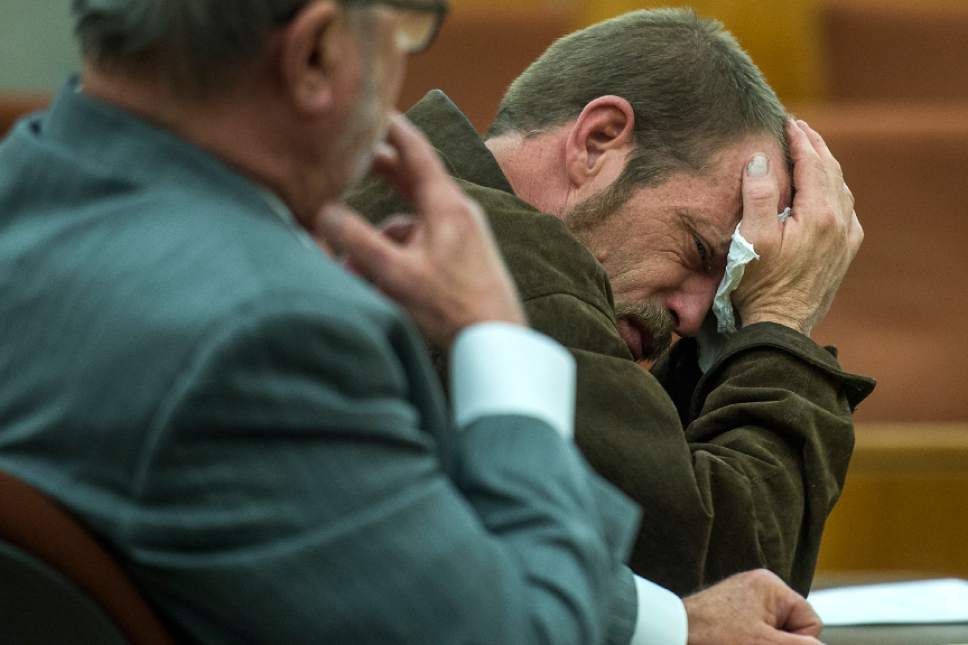 Chris Detrick  |  The Salt Lake Tribune Kenneth Lee Drew listens to Judge Robert Lunnen during his sentencing at 4th District Court in American Fork Tuesday January 10, 2017. Judge Robert Lunnen sentenced Drew to one to fifteen years in the Utah State Prison for his role in the death of Ashleigh Holloway Best on May 17, 2016.