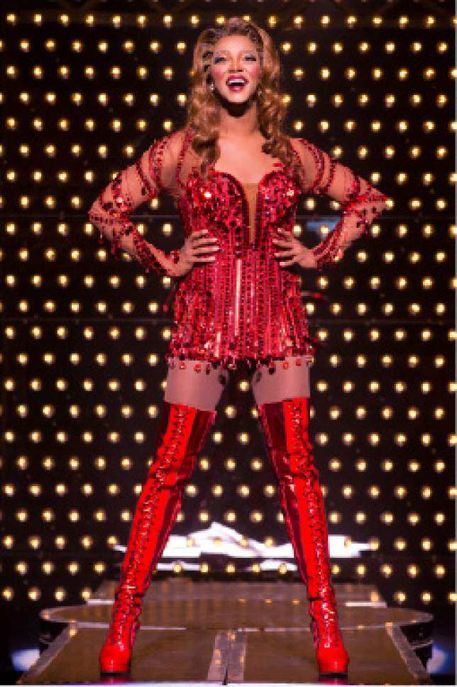 "Actor J. Harrison Ghee as Lola in the national touring company of ""Kinky Boots."" Matthew Murphy  