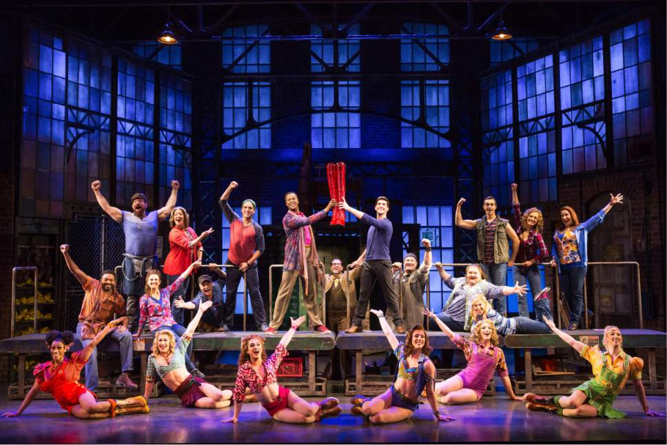 "Cast of the national touring company of ""Kinky Boots."" Matthew Murphy  