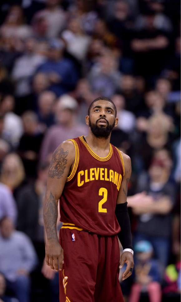 Steve Griffin   The Salt Lake Tribune Cleveland Cavaliers guard Kyrie  Irving (2) looks 01089b677