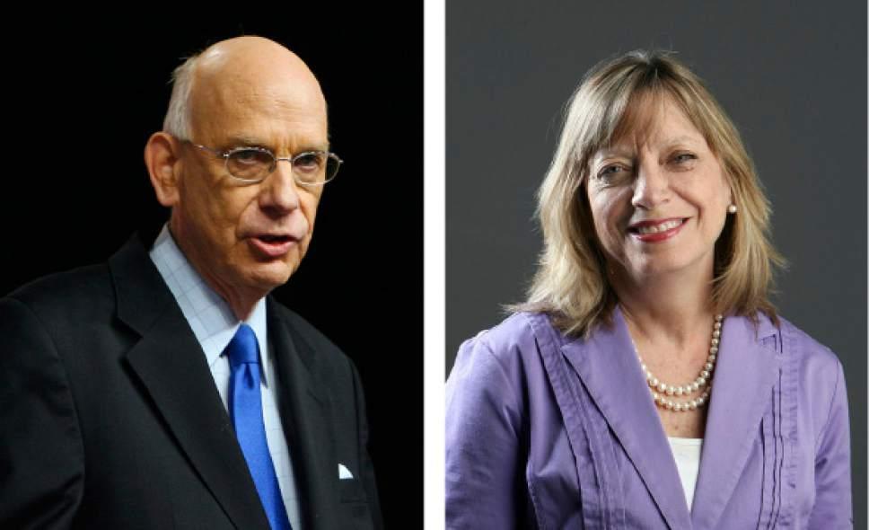 Senator Bob Bennett and Peggy Fletcher Stack