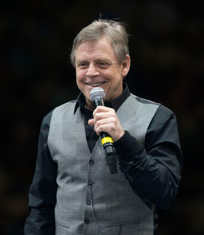 Steve Griffin | The Salt Lake Tribune  Mark Hamill talks to thousands of fans at the Vivint Smart Home Arena as he kicks off the 2016 Salt Lake Comic Con in Salt Lake City on Thursday, Sept. 1, 2016.