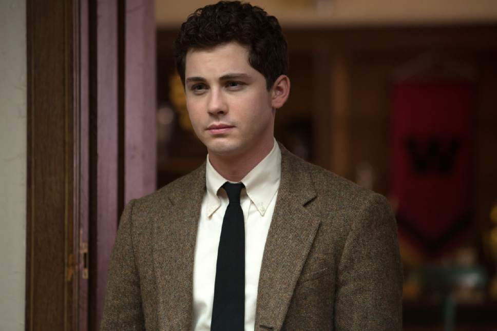 "In this image released by Roadside Attractions, Logan Lerman appears in a scene from, ""Indignation."" (Alison Cohen Rosa/Roadside Attractions via AP)"