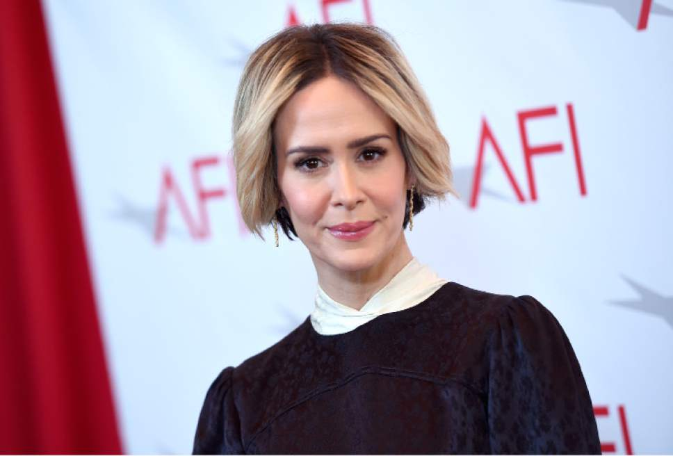 Sarah Paulson arrives at the AFI Awards at the Four Seasons Hotel on Friday, Jan. 6, 2017, in Los Angeles. (Photo by Chris Pizzello/Invision/AP)