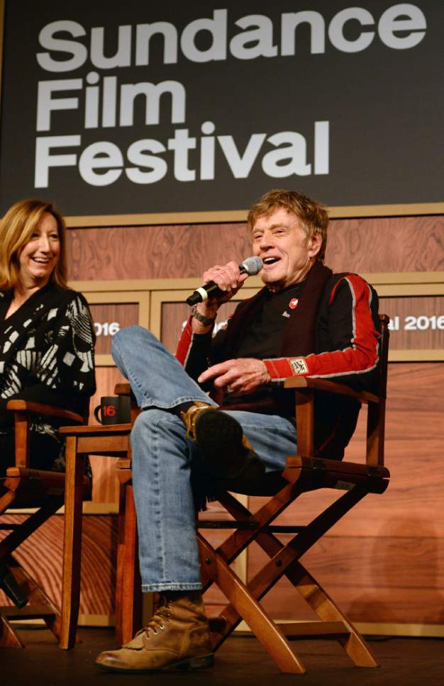 Steve Griffin  |  The Salt Lake Tribune   Robert Redford talks about this year's Sundance Film Festival during the opening Sundance press conference at the Egyptian Theatre in Park City, Thursday, January 21, 2016.