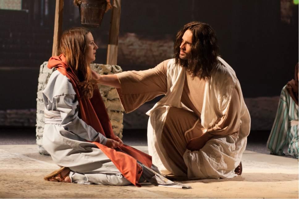 "Gavin Stone (Brett Dalton' right), a former child star, plays Jesus in a church's Passion production, in the comedy-drama ""The Resurrection of Gavin Stone."" Eric Lee  |  WWE Studios/BH Tilt"