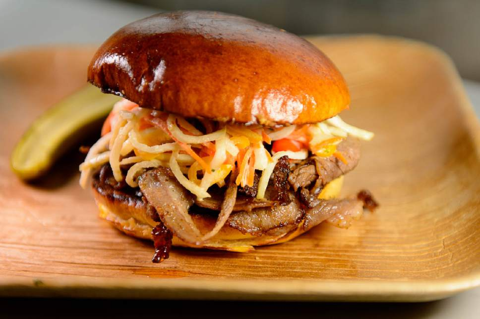 Trent Nelson  |  The Salt Lake Tribune The smoked beef brisket at Riverhorse Provisions in Park City.