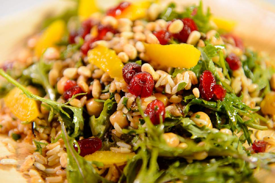 Trent Nelson  |  The Salt Lake Tribune The grains and kale salad at Riverhorse Provisions in Park City.