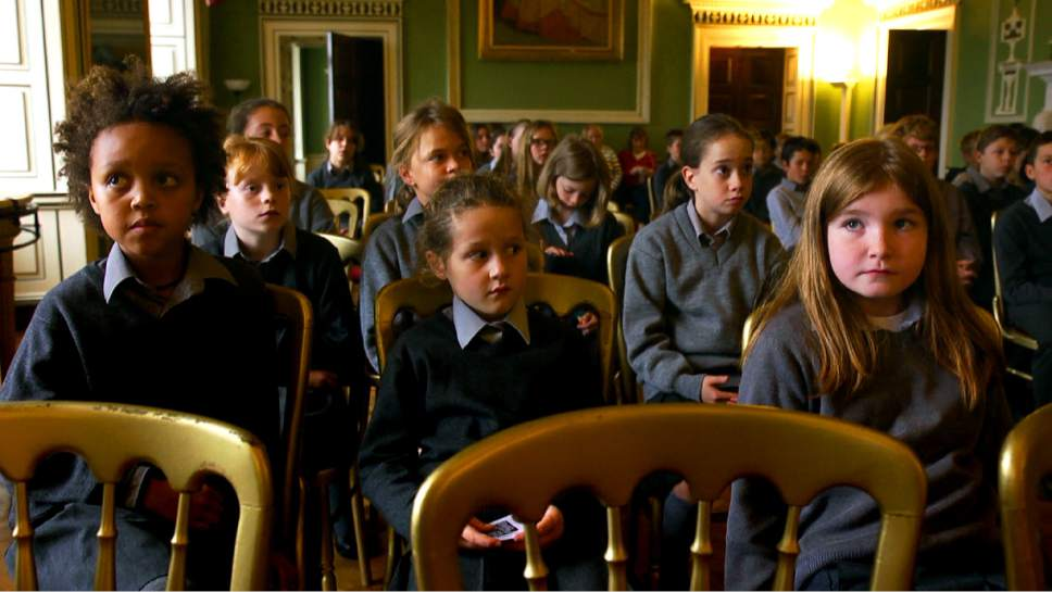 "Students assemble at Headfort School in a scene from ""In Loco Parentis,"" directed by Naesa NÌ Chian·in. Courtesy  