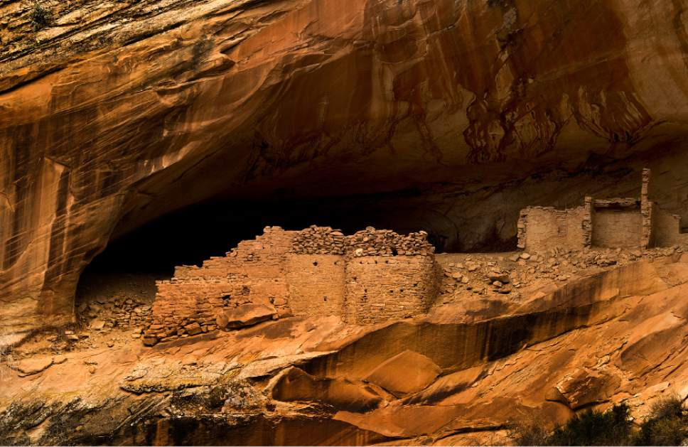Rick Egan  |  The Salt Lake Tribune  Monarch Cave, in the Butler Wash, near where Mary Benally spent a year of her childhood east of Comb Ridge in Bears Ears National Monument. Thursday, January 12, 2017.
