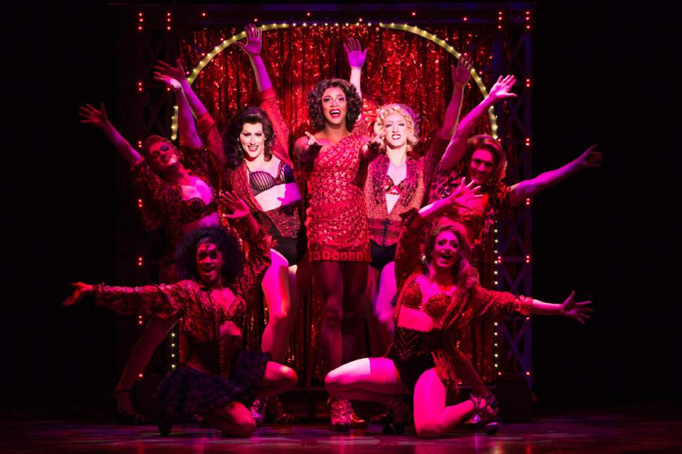 "The cast of the national touring company of ""Kinky Boots."" Matthew Murphy  