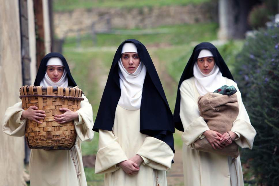 """Alison Brie, Kate Micucci and Aubrey Plaza appear in """"The Little Hours"""" by Jeff Baena, an official selection of the Midnight program at the 2017 Sundance Film Festival. Courtesy Sundance Institute"""