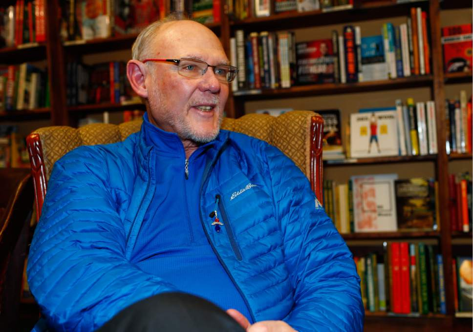 """In this Wednesday, Jan. 18, 2017, photograph, former NBA head coach George Karl talks about his new book, """"Furious George,"""" during an interview before a book signing event at a book store in east Denver. (AP Photo/David Zalubowski)"""