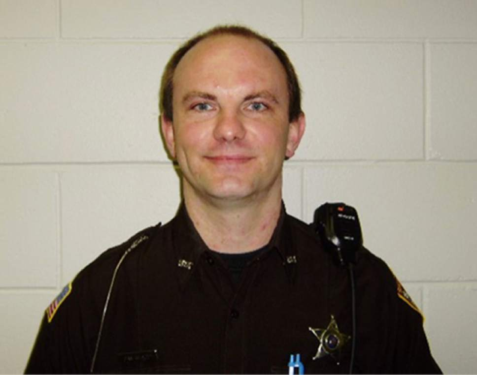This undated photo provided by the Rusk County Sheriff's Office in Ladysmith, Wis., shows Deputy Dan Glaze. Doug Nitek is charged with killing a western Wisconsin sheriff's deputy in October and endangering the safety of several other officers as they were arresting him. According to the criminal complaint filed Friday, Jan. 20, 2017, Nitek fatally shot Rusk County Sheriff's Deputy Dan Glaze the night of Oct. 29 after Glaze drove his squad car near Nitek's vehicle to investigate why the vehicle was parked in the middle of a field in the Town of Willard.  (Rusk County Sheriff's Office via AP)