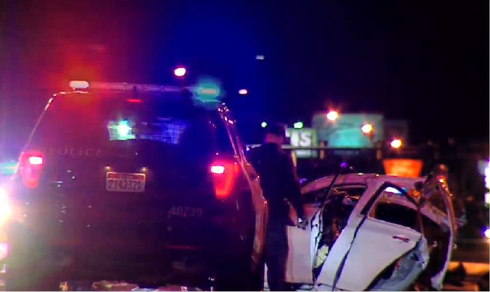 Courtesy of KUTV 2News  Police say a motorist is dead after being hit by the driver of an allegedly stolen car.