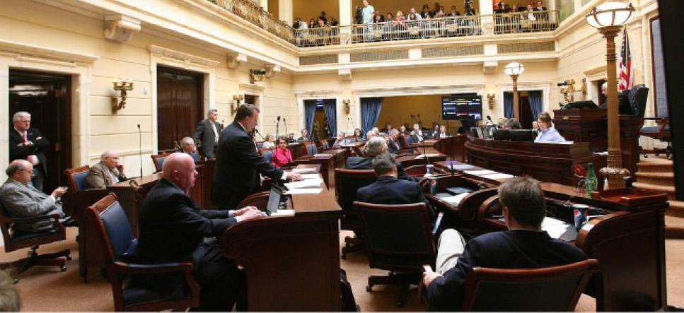 Leah Hogsten     Tribune file photo The Senate chamber during a recent session of the Utah Legislature.
