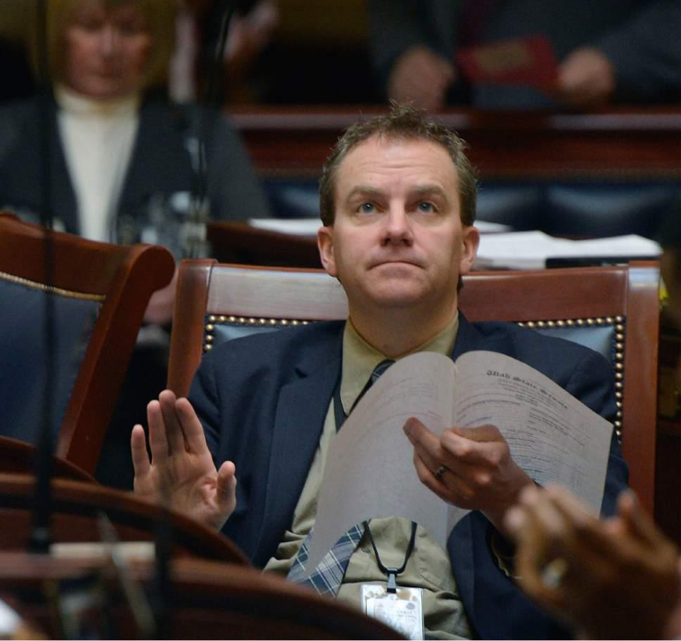 Al Hartmann  |  The Salt Lake Tribune New member of the Senate, Lincoln Fillmore, R-South Jordan.
