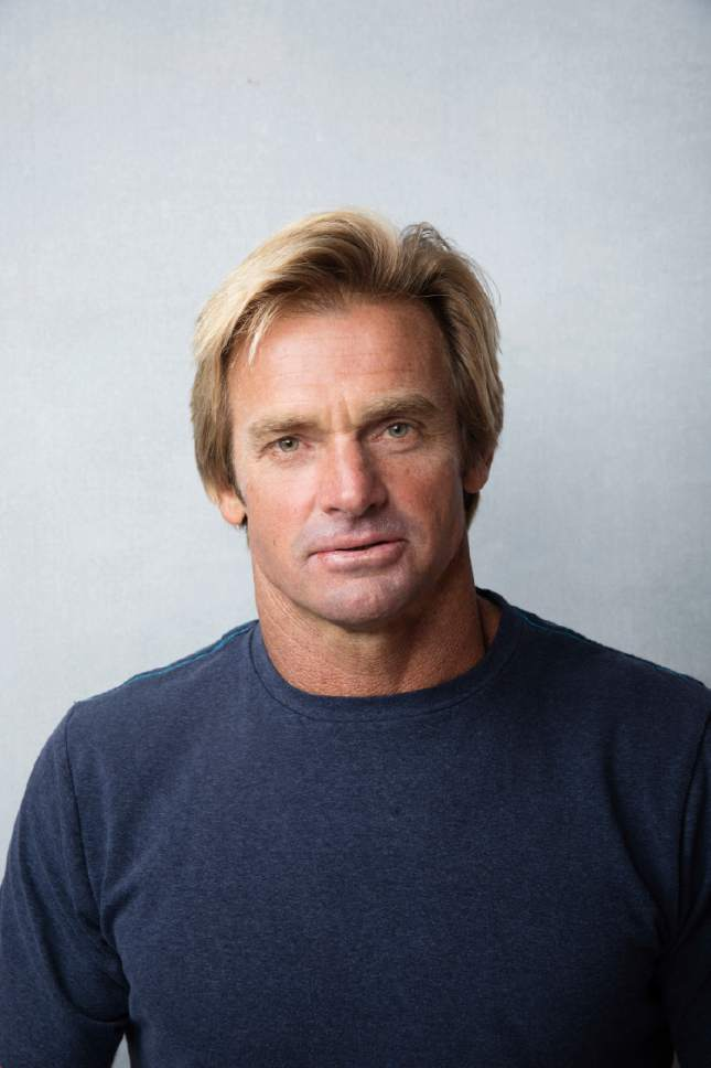 "Laird Hamilton poses for a portrait to promote the film, ""Take Every Wave: The Life of Laird Hamilton"", at the Music Lodge during the Sundance Film Festival on Sunday, Jan. 22, 2017, in Park City, Utah. (Photo by Taylor Jewell/Invision/AP)"