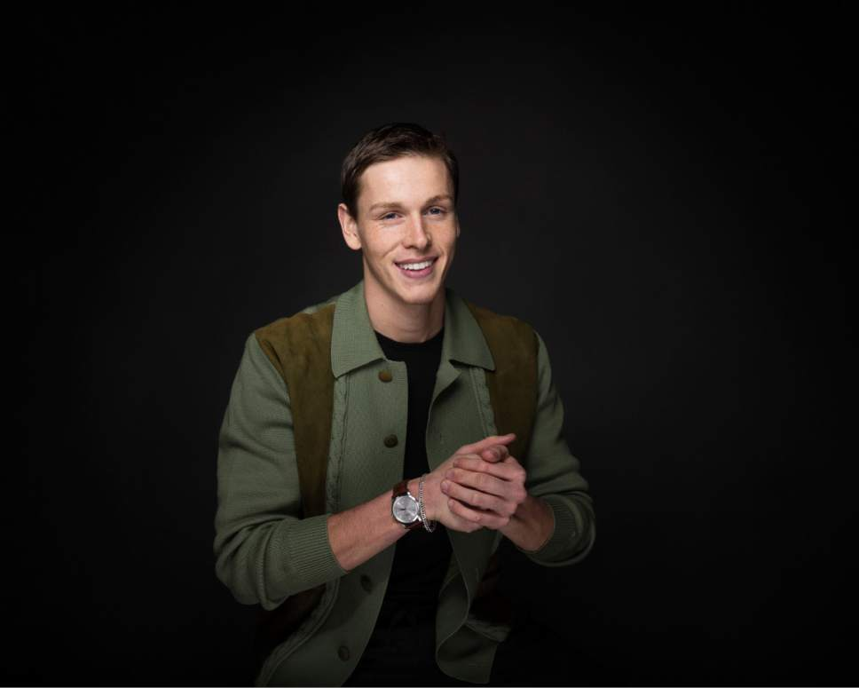 "Actor Harris Dickinson poses for a portrait to promote the film, ""Beach Rats"", at the Music Lodge during the Sundance Film Festival on Monday, Jan. 23, 2017, in Park City, Utah. (Photo by Taylor Jewell/Invision/AP)"